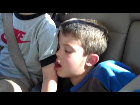 2010   boys sleeping in car