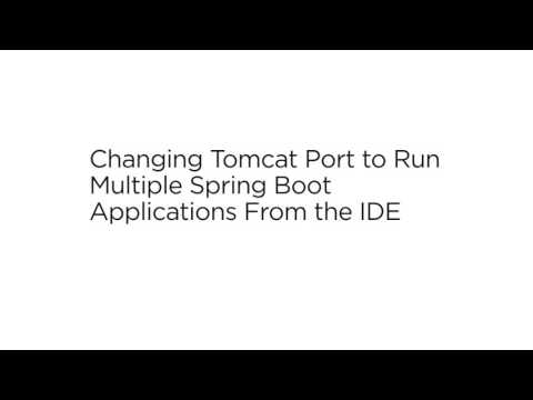 Changing Tomcat Port to Run Multiple Spring Boot Application From the IDE