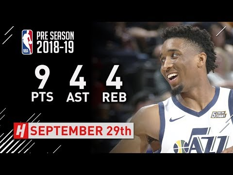 Donovan Mitchell Full Highlights vs Perth Wildcats - 2018.09.29 - 9 Pts, 4 Ast, 4 Reb!