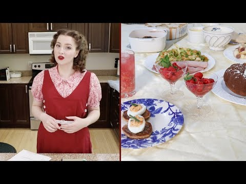 Following 1930's Recipes : Cooking in Costume!