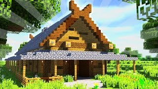 How To Build a VIKING LONGHOUSE in Minecraft (CREATIVE BUILDING)