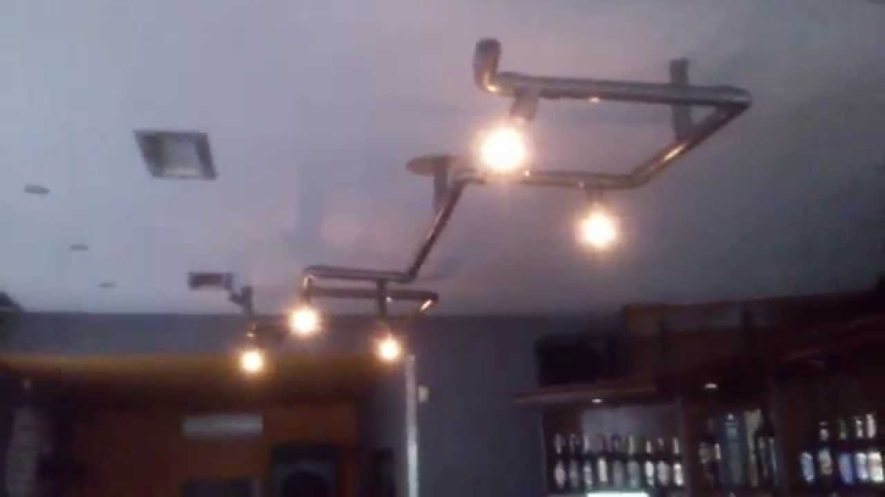 diy light from water industrial age style ceiling light youtube