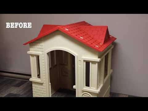 BEFORE and AFTER: DIY Playhouse Makeover! - Thrift Diving