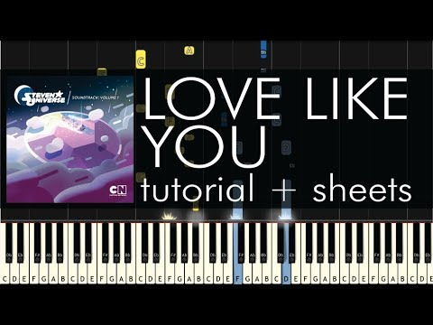 Steven Universe - Love Like You - Piano Tutorial + Sheets