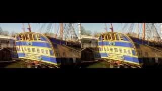 Hermione Lafayette., freedom's frigate 3D UHD -  RocheFort seaport