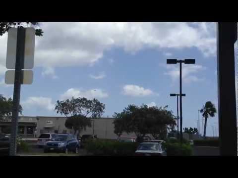 F-22 Raptors blast off at Honolulu International Airport Hickam Air Force Base Oahu