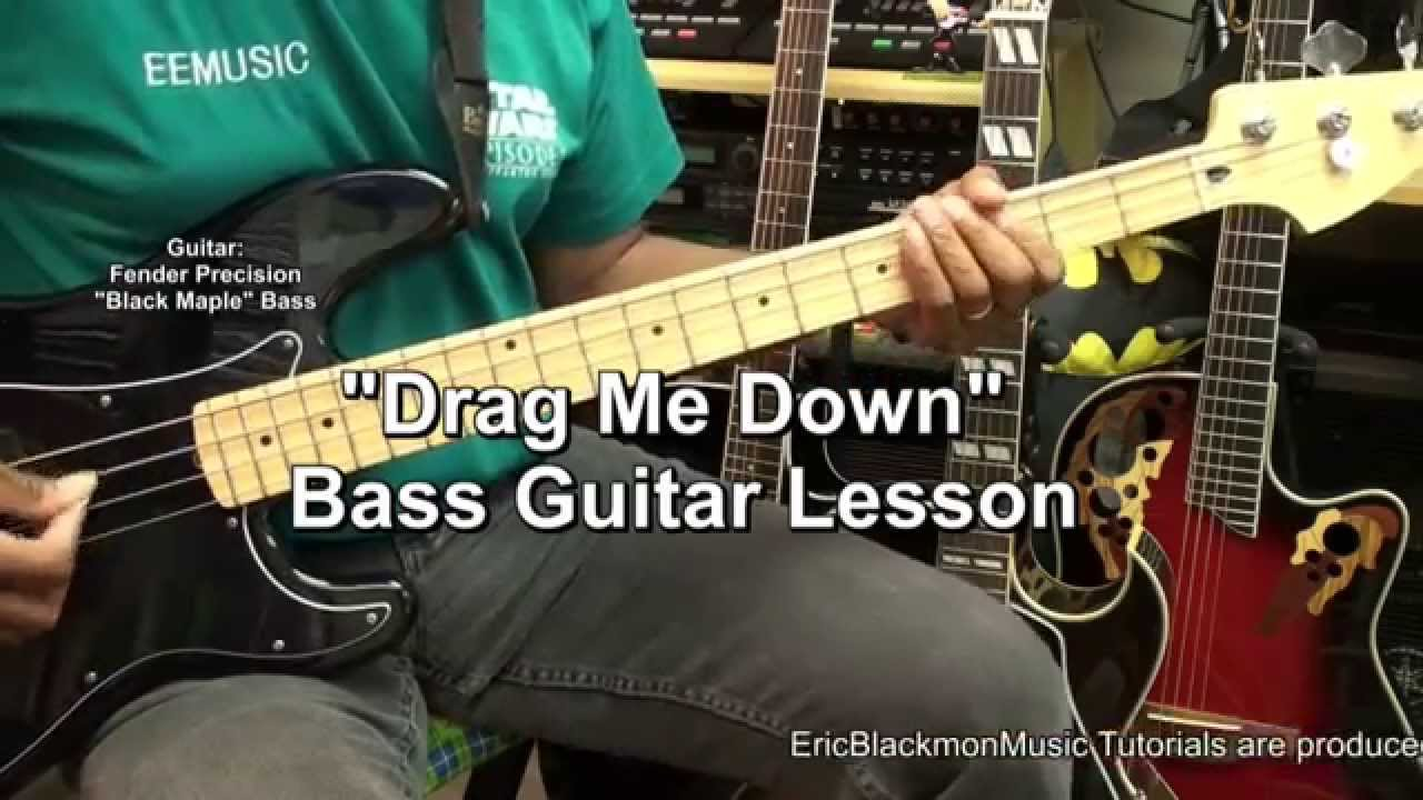 How To Play Drag Me Down One Direction On Bass Guitar Lesson