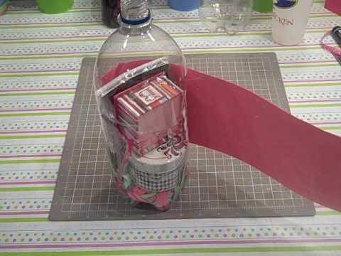 How to make a gift holder using a soda bottle youtube how to make a gift holder using a soda bottle negle Choice Image