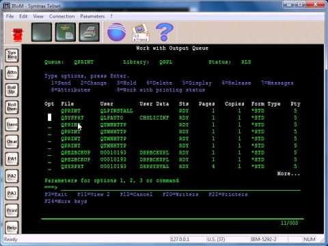 AS400 Tutorial - Spool File Priority and WRKSPLF