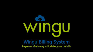 Wingu Billing Dashboard - Update Payment Gateway Details