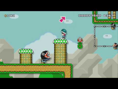Working at the Chomp Wash! by Blue Blur ~SUPER MARIO MAKER~ NO COMMENTARY