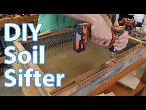 DIY soil sifter & stand / gardening woodworking / dirt sieve