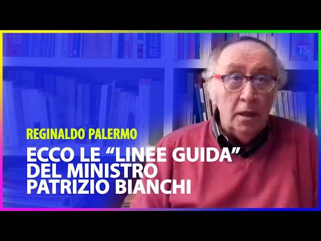 """Ecco le """"linee guida"""" del Ministro Patrizio Bianchi"""