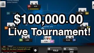 $100,000 Live Stream Poker Tournament!