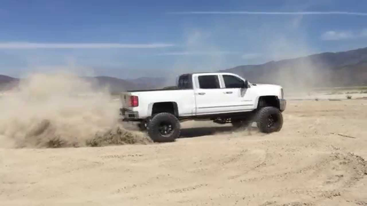 2015 Lifted Chevy Duramax Donuts - YouTube