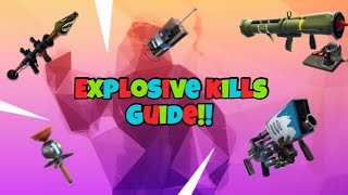 How To Get Easy Explosive Kills!!! - Fortnite Battle Royale