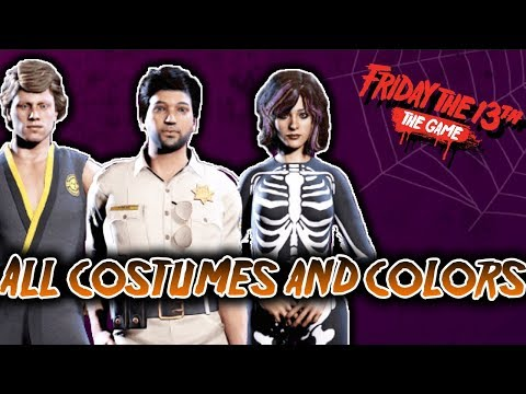 All Halloween Costumes and Colors Showcase - Friday the 13th Game Halloween Costume Pack