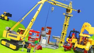 BAGGER, LASTWAGEN, KRAN & SPIELZEUGAUTOS Kinderfilm | Lego Construction Baustelle für Kinder