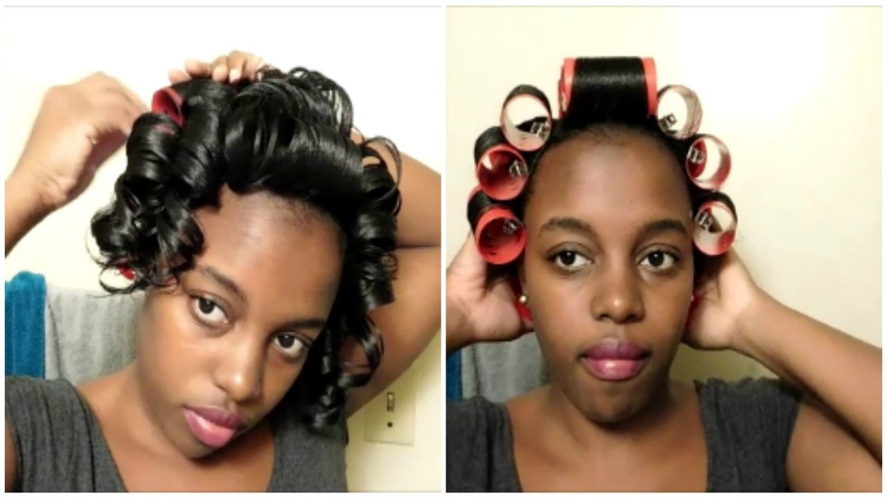 Wet Roller Set Tutorial Results Relaxed Hair