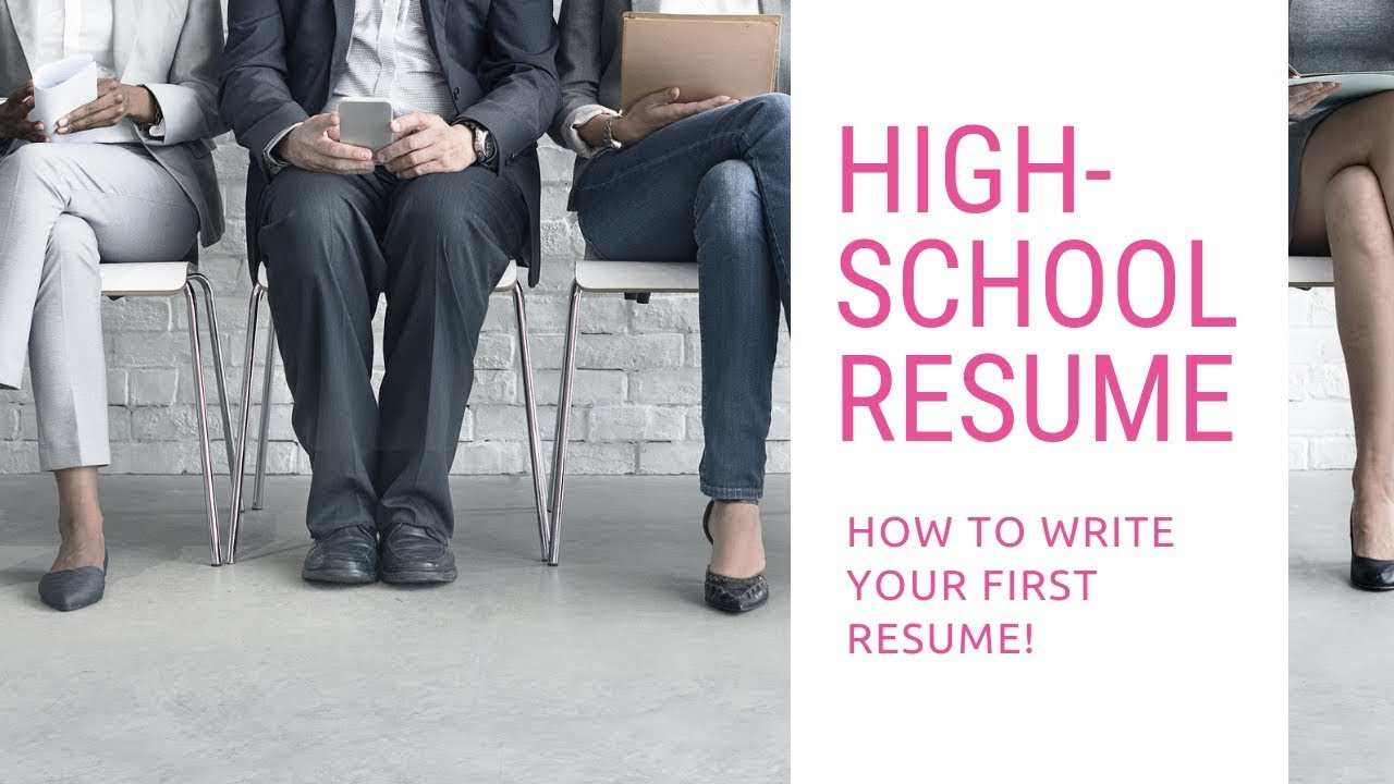 High School Resume How To Write Your First Resume Plus Template
