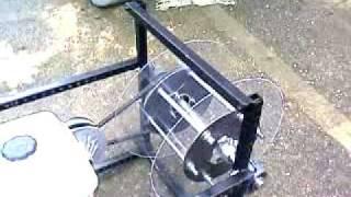 Wakeskate winch - first test