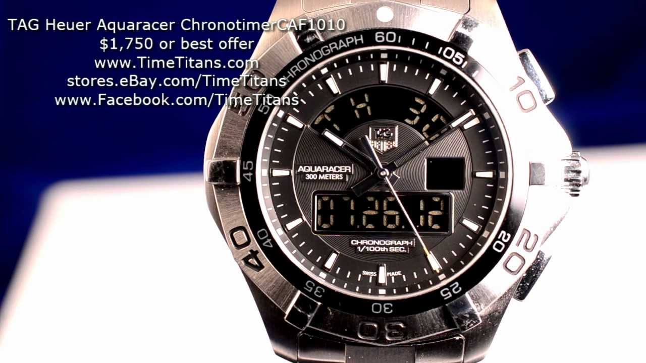 This Tag: TAG Heuer Aquaracer Chronotimer CAF1010 43mm 300M Multi