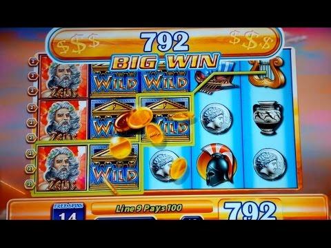 Zeus Slot JACKPOT Video - $18 Bet - 25 Spins Bonus Round!