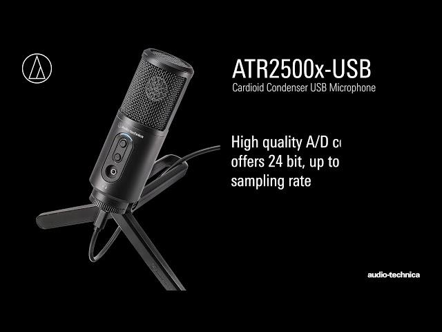 ATR2500x-USB Overview   Cardioid Condenser USB Microphone