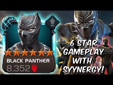 6 Star Black Panther Level Up & Gameplay! - Wakanda Synergy Unleashed - Marvel Contest Of Champions