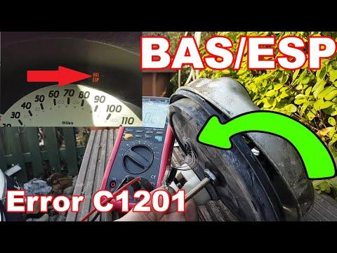 Mercedes A170 W168 BAS/ESP light on  Error C1201 brake