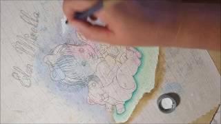 Pintando Fraldinha para menina Parte 1