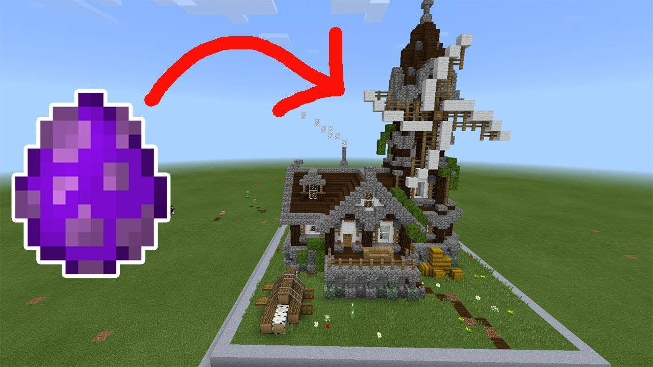 How To S A Windmill House Minecraft Pe 1 2