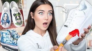 I Customized Air Force 1's , Vans & Converse... And I'm Giving Them Away!