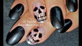 Crystal Skull Nail! DIY Easy and Elegant Halloween Art Design Tutorial