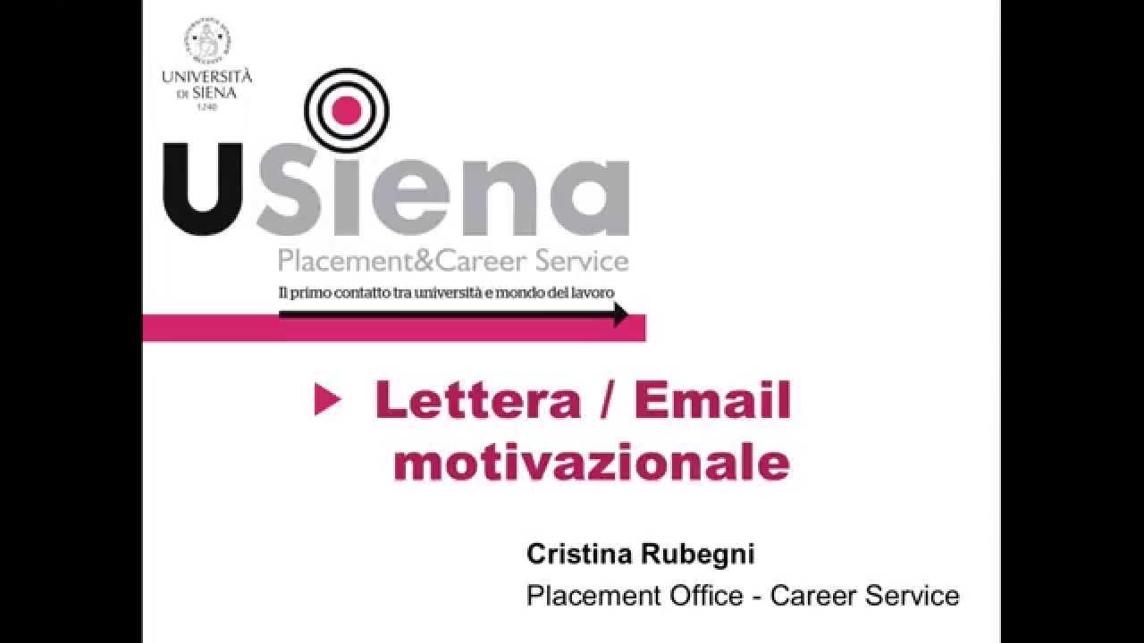 lettera motivazionale