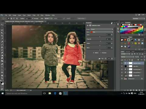 Cinematic colour grading Photoshop tutorial thumbnail