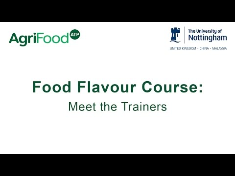 Food Flavour Course - Meet the Trainers