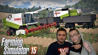 PGR na Czech Valley - Farming Simulator 15 ☆ Żniwa z babką Jadzią... - Bronczek & MafiaSolec