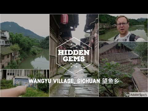A REAL Ancient Town + ABANDONED School || Wangyu Village, Sichuan, China