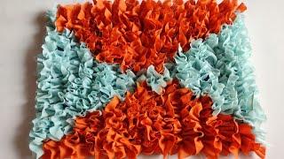 घर पर पड़े हुए कपड़ो से बनाए बहुत सुन्दर और मुलायम पायदान Doormat/ Floormat / Arearug