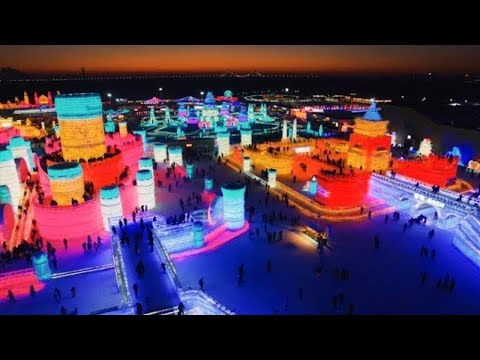 THIS CHINA ICE CITY WILL BLOW YOUR MIND ❄️️ DRONE VLOG || Ha