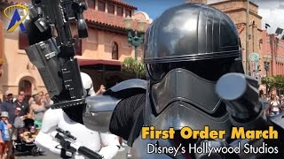 Star Wars March of the First Order at Disney's Hollywood Studios with Captain Phasma