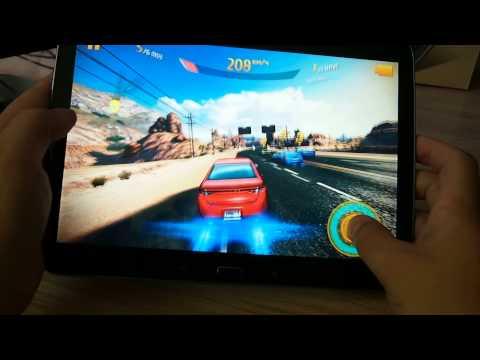 Работа игры Asphalt 8 на планшете Samsung Galaxy Tab 3 10.1