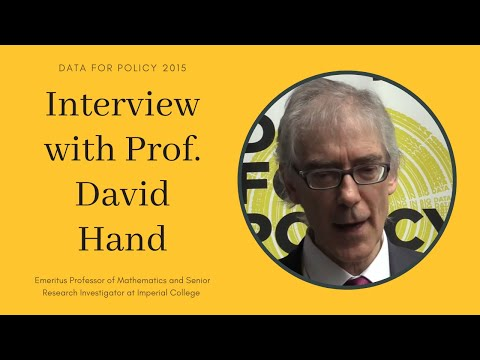Prof. David Hand, UK Statistics Authority, ADRN @ Data for Policy 2015