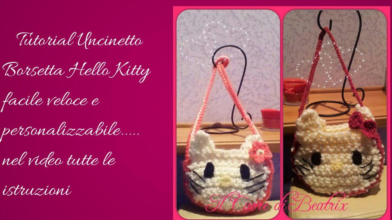 Amigurumi Borsette Uncinetto : Tutorial Uncinetto borsa hello kitty parte 1 - YouTube