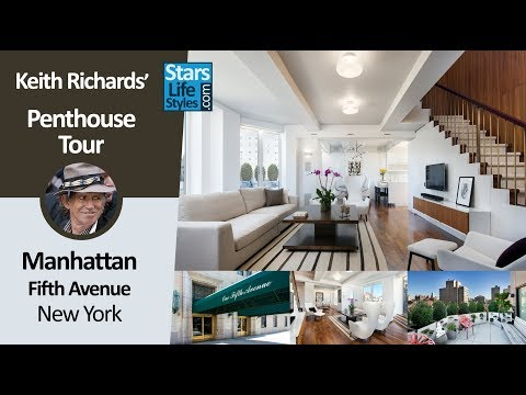 Keith Richards' New York Penthouse Tour | Manhattan NYC | $12 Million | The Rolling Stones Guitarist