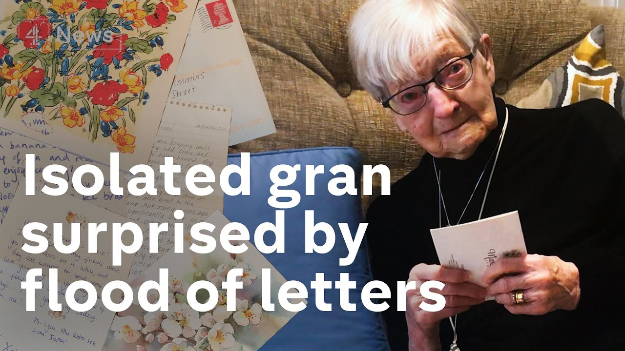 84-year-old granny flooded with letters after getting lonely during Coronavirus isolation