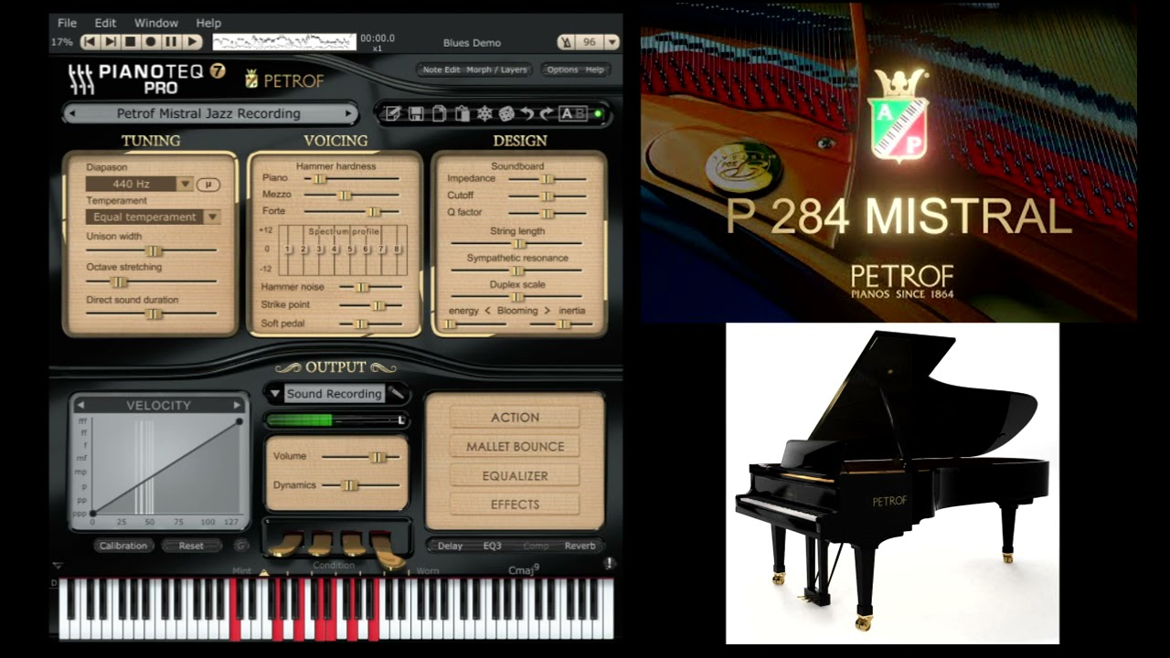 Pianoteq PETROF 284 Mistral virtual piano unboxing - Demo by Mistheria