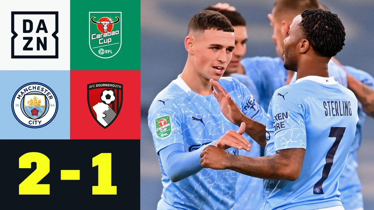 Foden rettet Citizens | ManCity - Bournemouth 2:1 | Carbao Cup | DAZN