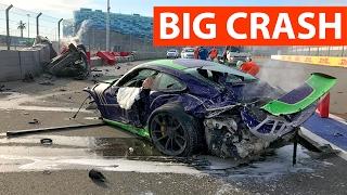 Авария Porsche GT3 RS 991 HARD CRASH
